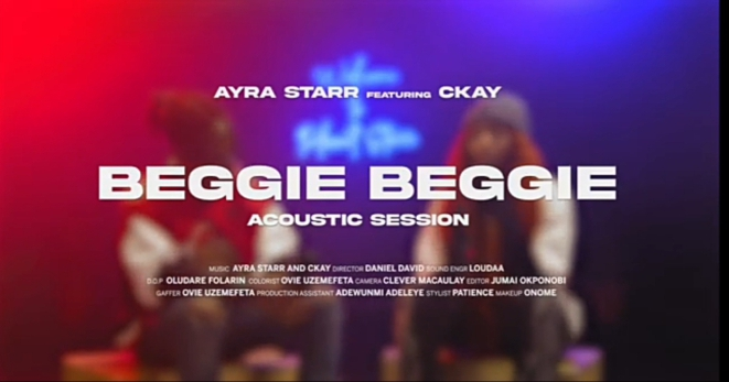 Ayra Starr – Beggie Beggie ft Ckay
